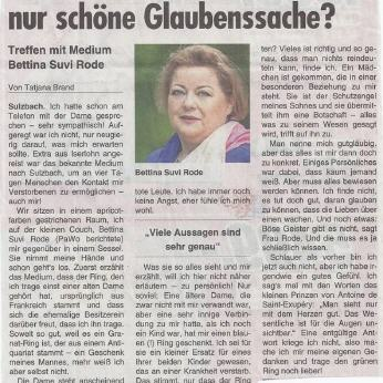 Bettina-Suvi Rode in der Presse